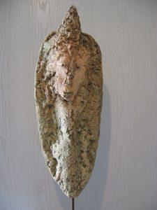 Maske aus Keramk, Kunst aus dem Bayerischen Wald